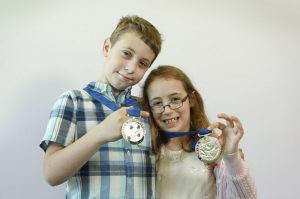 Victorian Pride of Australia medal presentation at the HWT Building. Medal winners brother and sister Hayden and Stephanie Rujak.    Picture: David Caird